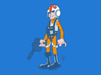 Star Wars: Luke X-Wing pilot