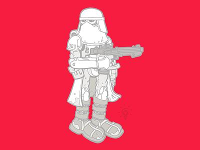 Star Wars: Snowtrooper character design personal illustration