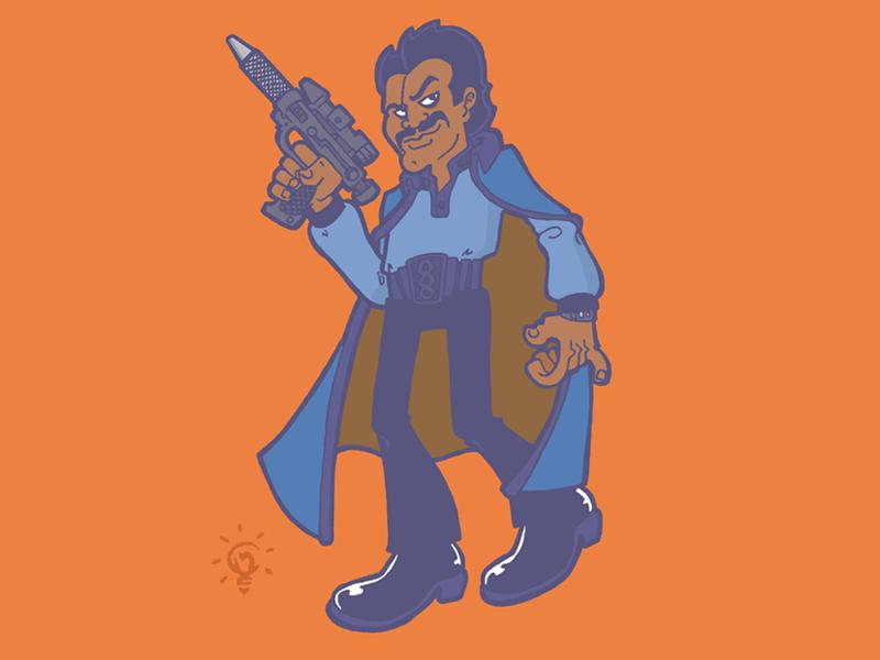 Star Wars: Lando Calrissian character design personal illustration