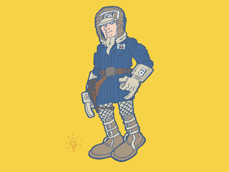 Star Wars: Han Solo Hoth Outfit character design personal illustration