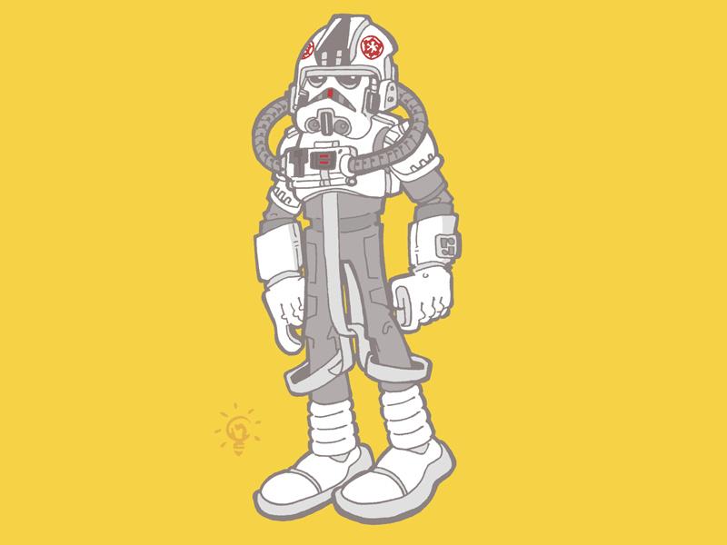 Star Wars: AT-AT Driver character design personal illustration