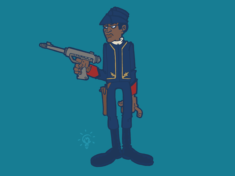 Star Wars: Bespin Guard character design personal illustration