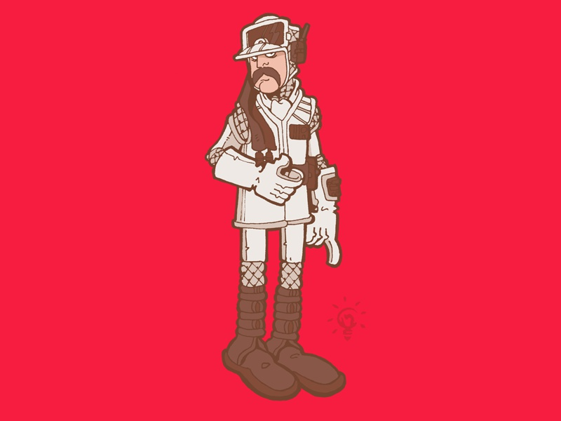 Star Wars: Hoth Rebel Commander character design personal illustration