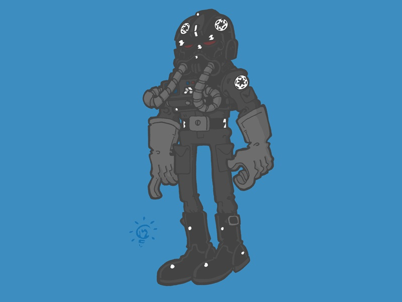Star Wars: Imperial Tie Pilot character design personal illustration