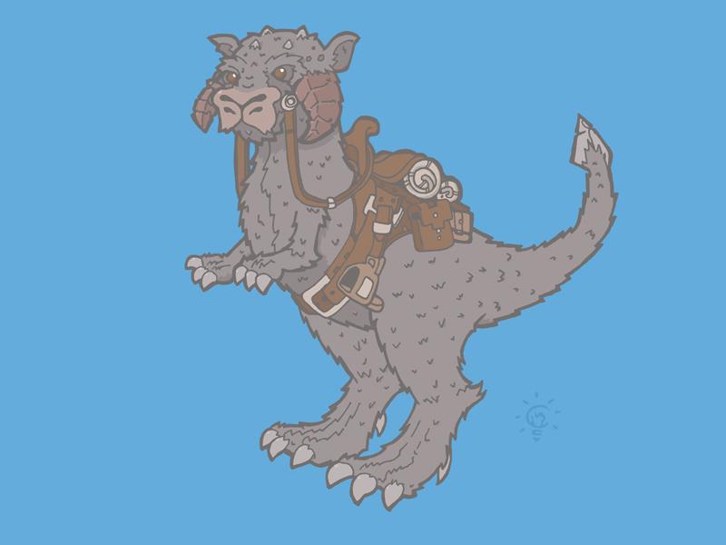 Star Wars: Tauntaun character design personal illustration