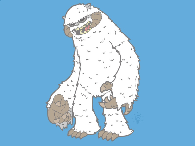 Star Wars: Wampa character design personal illustration