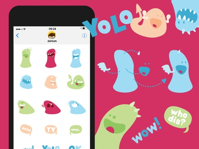Build-a-blob iOS iMessage stickers