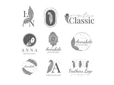 Free Feather Logo Set free logo set feather logo free branding logotypes logos logotype logo pack logo set free logo free psd freebie design branding