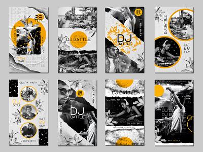 Free DJ Battle Instagram Stories PSD Set social media dj stories free instagram templates free stories templates instastories instagram stories instagram templates dj party dj event dj battle dj templates dj free psd freebie design branding