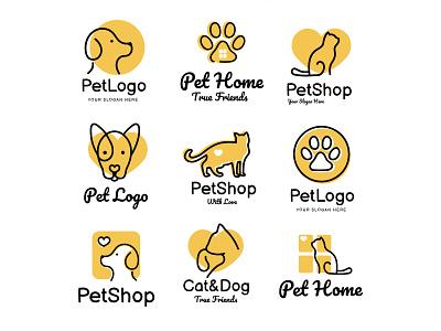 Free Pet Logo Set free logo set animal shelter pet shop animal logo pet logo free logos free logo logotype logo pack logo set logo free branding branding free psd freebie design