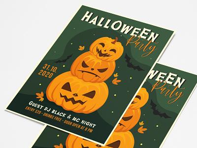Free Halloween Party Flyer PSD Template event flyer party flyer free halloween flyer halloween invitation halloween flyer halloween party all saints eve october 31 pumpkins happy halloween halloween illustration free download free psd freebie design