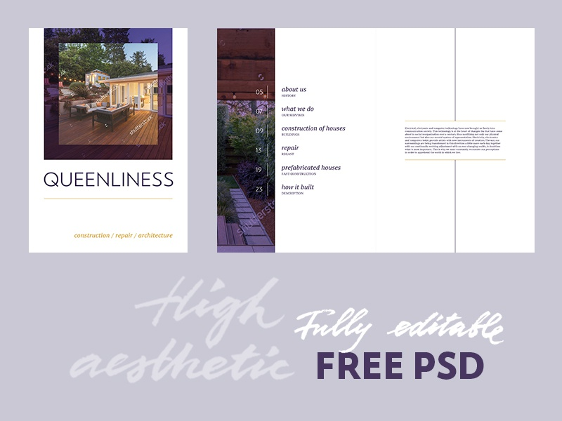 free real estate brochure template by templatesbravo dribbble