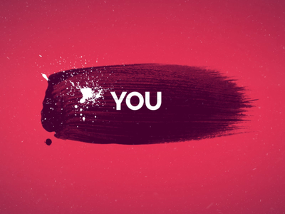 Quote Intro Video Template lettering type logo ui ux brush calligraphy design red typography after effects youtube gif branding quote download template intro redisign brush animation