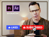 Youtube Subscribe Buttons Overlay Footage Adobe Premiere Pro