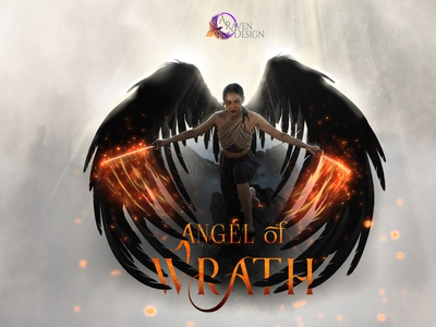 Angel of Wrath photo-composite typography book cover illustration design