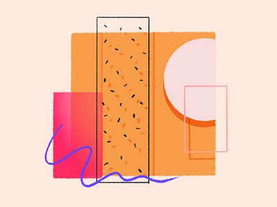 Rectangle Abstract illustrations concepts clean easy simple shapes overlapping abstract geometry gradient line art texture