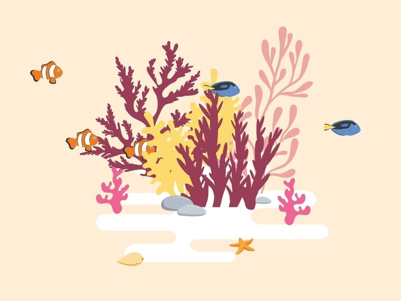 Coral Reef dory nemo under the sea ocean element water ocean sea reef coral fish