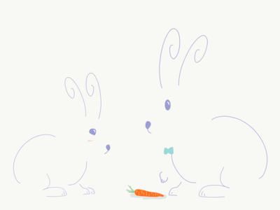 Sharing is Caring vectorart vector artwork doodle cute design artist coloroftheyear easter egg rabbit illustration