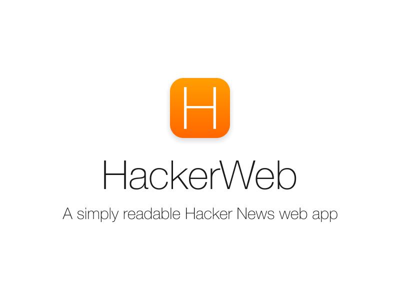 HackerWeb iOS 7 icon hackerweb hackernews ios7 ios icon flat