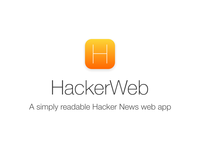 HackerWeb iOS 7 icon, 2nd attempt