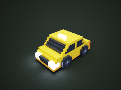 My first time using MagicaVoxel car taxi voxelart voxel magicavoxel