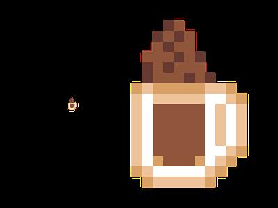 Milo dinosaur pixel art