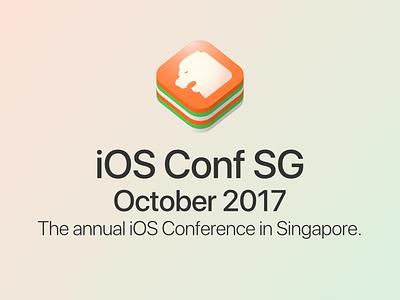 iOS Conf SG - logo proposal 4th iteration logo singapore conference ios iosconf iosconfsg