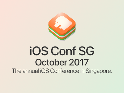 iOS Conf SG - logo proposal 4th iteration