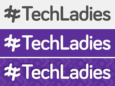 TechLadies logo proposal hashtag purple logo women ladies tech programming coding bootcamp meetup singapore techladies