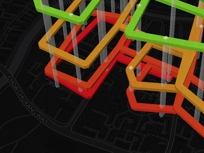 Elevating overstacking bus routes in Singapore 3d mapbox singapore routes bus
