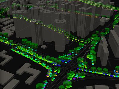 3D trees and buildings deckgl mapboxgl mapbox 3d buildings singapore trees