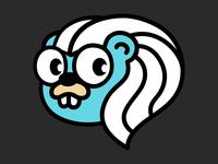 Unofficial rebound of GopherCon SG 2019's mascot mascot logo icon conference gopherconsg gophercon gopher merlion singapore