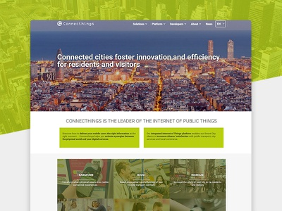 Connecthings's Brand Guidelines  smart city brand guideline photoshop beacon mobile website iot