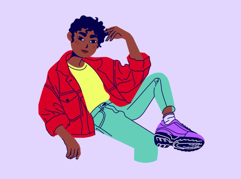 Retro Girl illustrator rene in a reverie rene fashion woman illustration woman girl characters inkscape characterdesign flat design flat character vector illustration