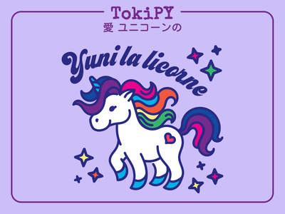 Yuni the Unicorn adorable stars rainbow tokipy cute unicorn cute kawaii unicorn kawaii unicorn