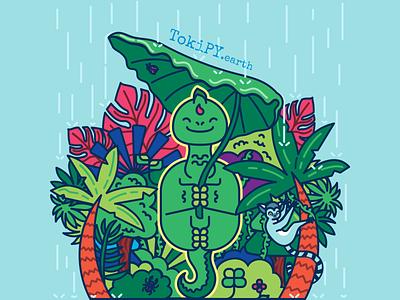 Diploo in Rainforest character design inkscape cute art dinosaurs dinos illustration vector adorable kawaii dinosaur kawaii dino cute dinosaur kawaii cute tokipy diploo dinosaur dino