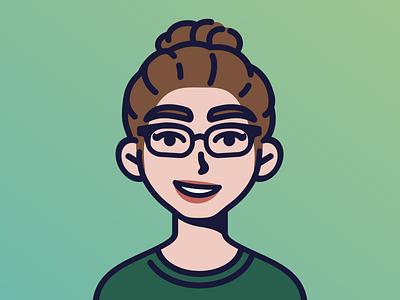 Avi Com 8 flat design cute character kawaii design inkscape character design icon illustration vector