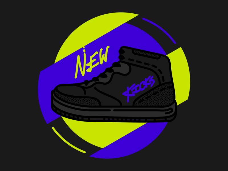 New Kicks style sport vector art vector illustration illustration sneakers sneaker icon footwear design high tops vector shoes kicks