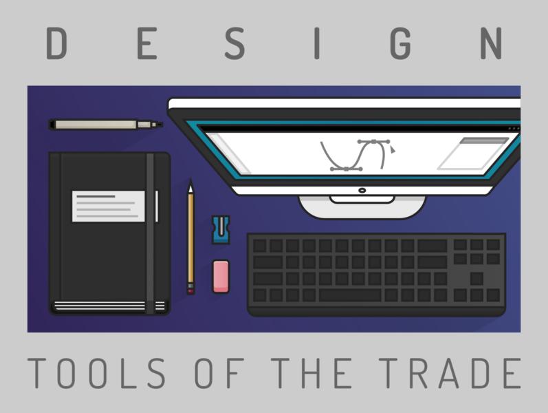 Design Tools micron pen micron icon design vector illustration desk illustration desk computer icon monitor icon bezier curve art tools art