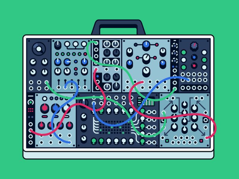 Diffuse cover // modular gear modular synth synth modular gear modular audio icon audio tools production icon desk illustration cover photo audio illustration icon vector