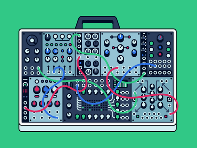 Diffuse cover // modular gear modular synth synth modular gear modular audio icon audio tools production icon desk illustration cover photo audio illustration icon vector