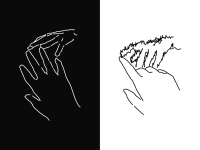Distance bw black and white inkscape lineart linework texture hands hand illustration