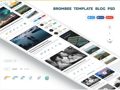 Template blog free psd site one page onepage site psd free blog template