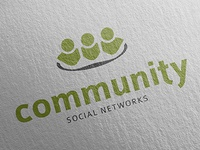 Community Social Networks Logo Template