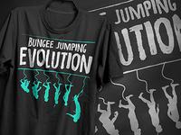 Bungee Jumping Evolution T-Shirt Design