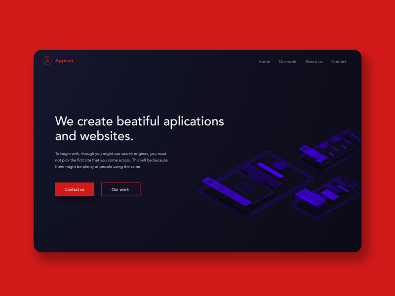 Landing page ilustrace ui web  design