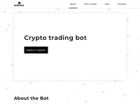 Crypto trading bot in monochrome