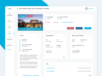 Material Design: Single Offer page