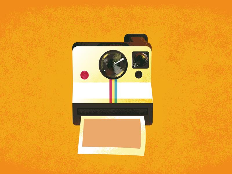 Camera polar polaroid photographic camera illustration