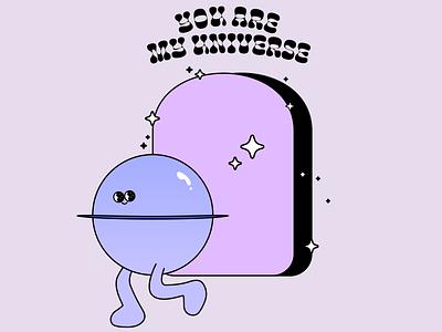 my universe logo illustration figma design character animation branding
